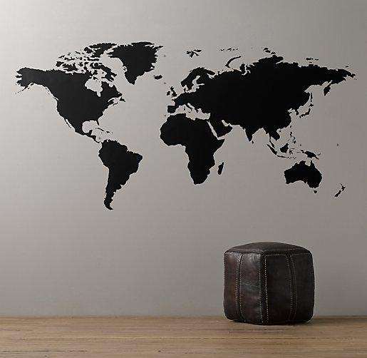 World map chalkboard decal gumiabroncs Choice Image