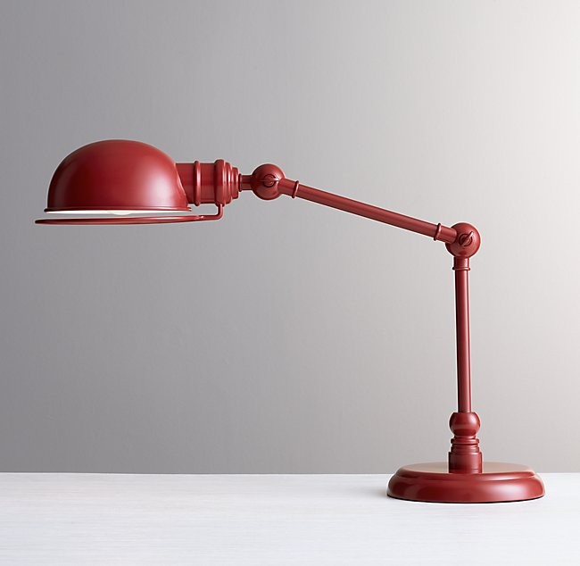 Academy Task Table Lamp Red