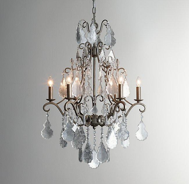 Mercury glass chandelier eveline mercury glass chandelier aloadofball Choice Image