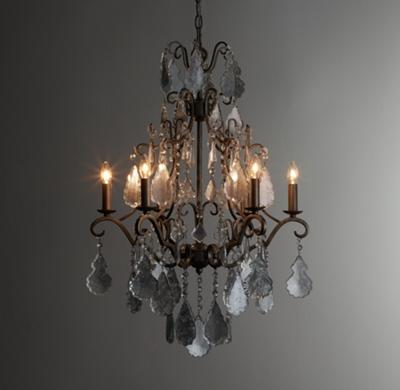 Eveline mercury glass chandelier aloadofball Choice Image