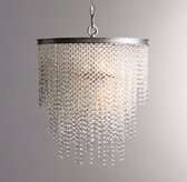 Athena Crystal Chandelier - Aged Pewter with Clear