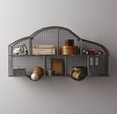 Industrial Wire Cubby Car Shelf