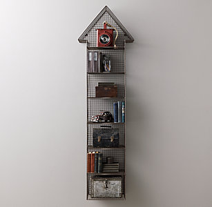 Industrial Wire Cubby Large Arrow Shelf