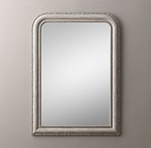 19th C. Louis Philippe Dresser Mirror - Vintage Grey