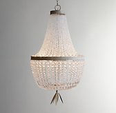 Dauphine Crystal Empire Chandelier - Aged Metal