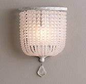 Dauphine Frosted Glass Demilune Sconce