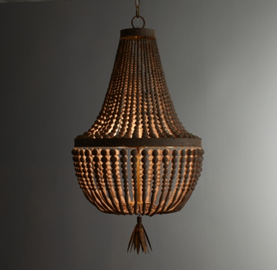 Dauphine wood empire chandelier aloadofball