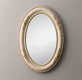 19th C. Louis Philippe Oval Mirror - Gilded Parchment