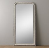 19th C. Louis Philippe Leaner Mirror - Vintage Grey