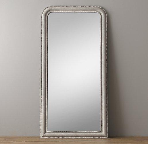 19th c louis philippe leaner mirror vintage grey for Grey floor length mirror