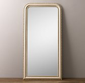 19th C. Louis Philippe Leaner Mirror - Gilded Parchment