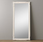 Vintage Hand-Carved Leaner Mirror