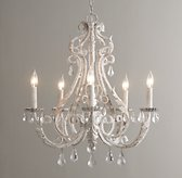 Palais Large Chandelier Rustic White