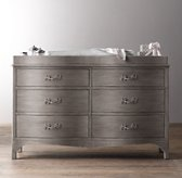 Harlowe Wide Dresser & Topper Set
