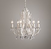 Palais Small Chandelier - Rustic White