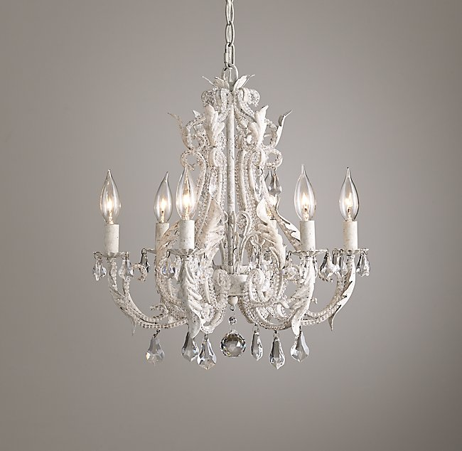 Small chandelier rustic white palais small chandelier rustic white aloadofball Gallery
