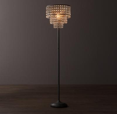 Soho crystal floor lamp aged pewter click to zoom aloadofball Choice Image