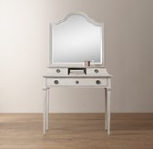 Haylan Writing Desk Mirror Hutch