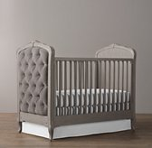 Colette Tufted Crib - Pewter Grey