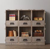 Vintage Wood Crate Wide Bookcase