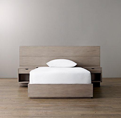 Callum Floating Nightstand Platform Bed