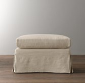Belgian Slope Arm Ottoman With Slipcover