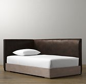 Parker Leather Corner Bed With Platform