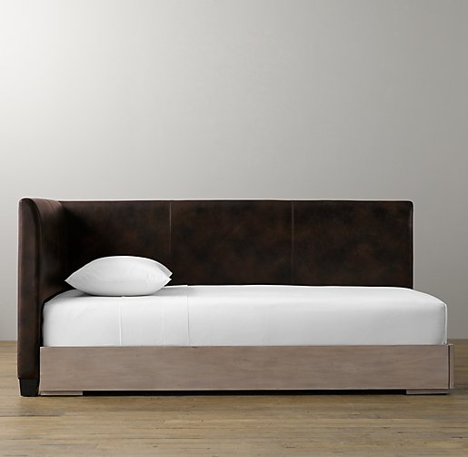 Parker Leather Corner Bed With Platform