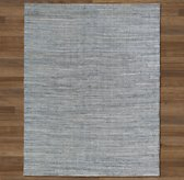 Zigzag Weathered Denim Rug