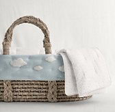 Bouclé Cloud Moses Basket Bedding & Ash Basket Set