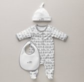 Petite Nursery Elephant Jersey Infant Gift Set - Grey