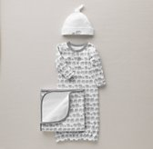 Petite Nursery Elephant Jersey Newborn Gift Set - Grey