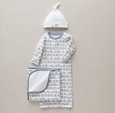 Petite Nursery Elephant Jersey Newborn Gift Set - French Blue