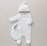Petite Nursery Star Jersey Infant Gift Set - Silver Mist