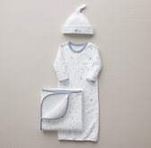 Petite Nursery Star Jersey Newborn Gift Set - French Blue