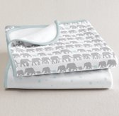 Petite Nursery Jersey Swaddle Blanket Set of 2 - Silver Mist