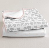 Petite Nursery Jersey Swaddle Blanket Set of 2 - Petal