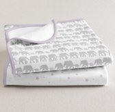 Petite Nursery Jersey Swaddle Blanket Set of 2 - Lilac