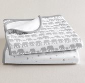 Petite Nursery Jersey Swaddle Blanket Set of 2 - Grey