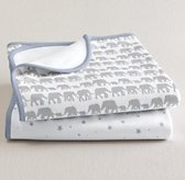 Petite Nursery Jersey Swaddle Blanket (Set of 2) - French Blue