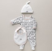 Petite Nursery Elephant Jersey Infant Gift Set - Petal
