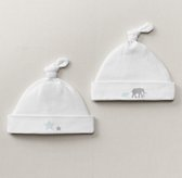 Petite Nursery Jersey Hat Set of 2 - Silver Mist