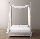 Sheer Belgian Linen Bed Swag