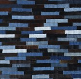 Denim & Cowhide Patchwork Rug Swatch