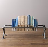 Industrial Pipe Tabletop Book Storage - Large