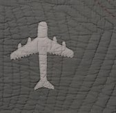 Vintage-Washed Airplanes Bedding Swatch