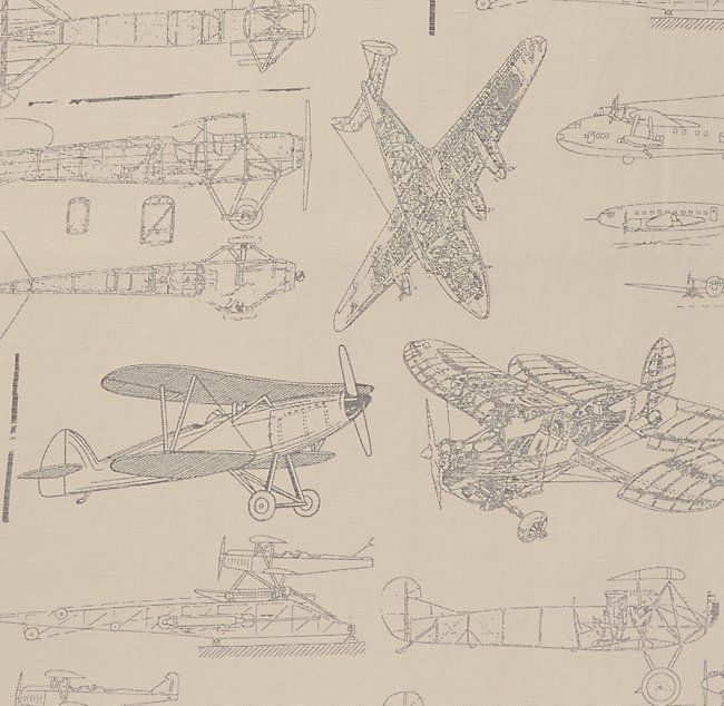 Vintage airplane blueprint bedding swatch malvernweather Choice Image