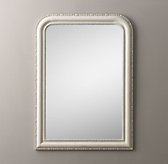 19th C. Louis Philippe Dresser Mirror - Heirloom White