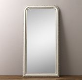 19th C. Louis Philippe Leaner Mirror - Heirloom White