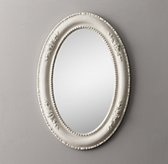 19th C. Louis Philippe Oval Mirror - Heirloom White